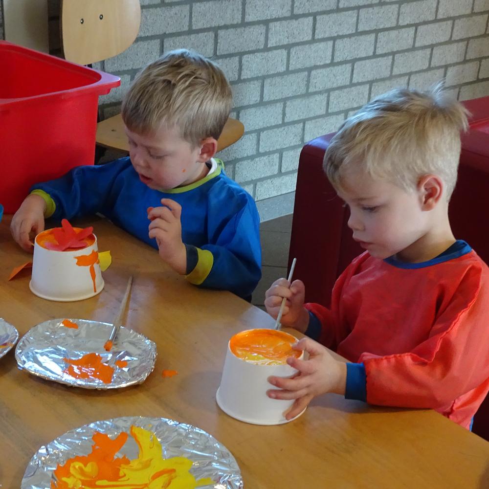 Begin van de dag bij kinderdagverblijf